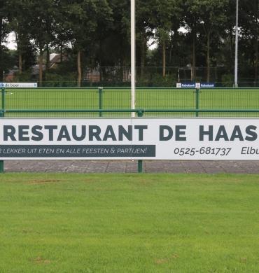 Restaurant en Partycentrum De Haas nieuwe bordsponsor