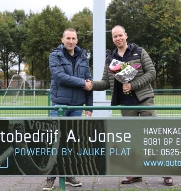 DSV'61 verwelkomt Autobedrijf Janse als nieuwe reclamebordsponsor