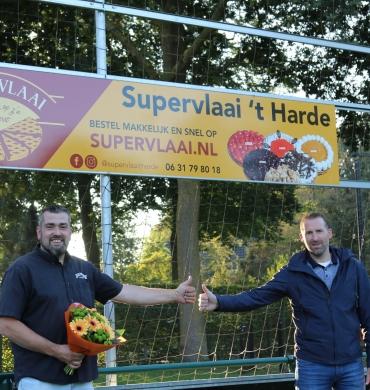 Supervlaai 't Harde nieuwe reclamebordsponsor bij DSV